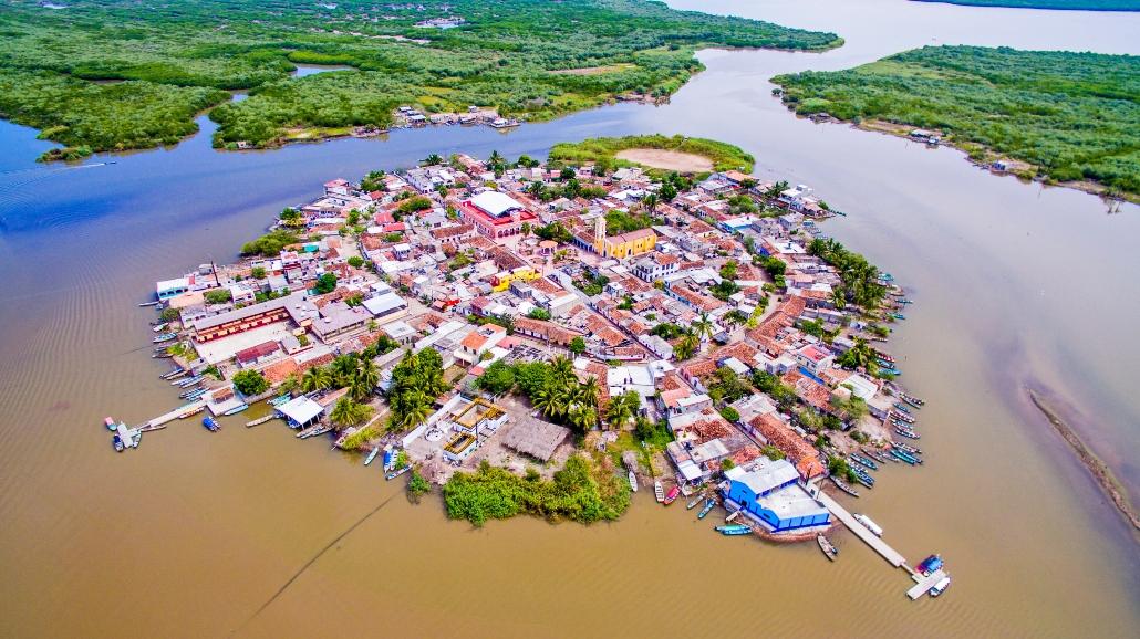 Isla de Mexcaltitan, Riviera Nayarit, Pueblo Mágico, Nayarit