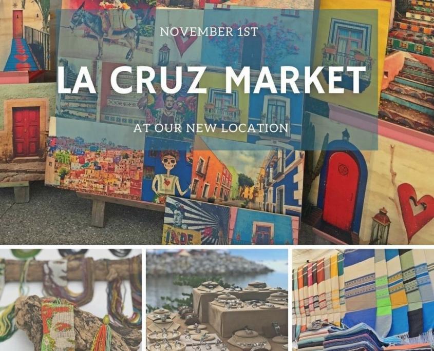 Collage, anuncio, La Cruz Market, Farrmer's Market, Riviera Nayarit