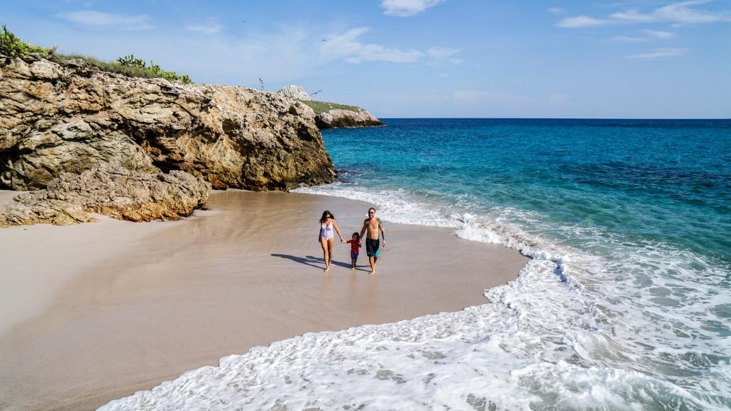 beach, family