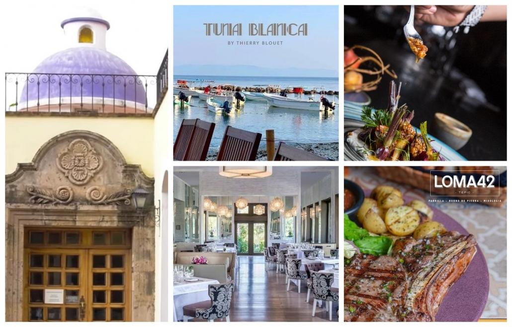 collage pictures, restaurants, Nayarit restaurants