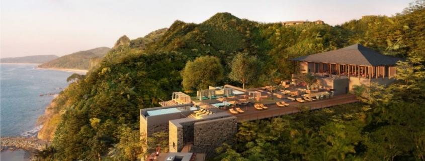 hotel en la montaña, vegetación, naturaleza