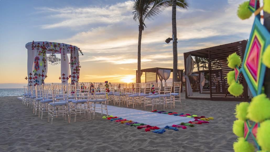 wedding, sunset, wedding in the beach
